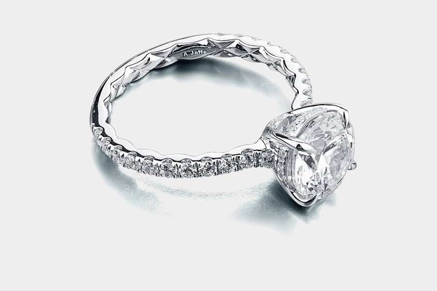 and halo ring engagement angle oval cut birks en with band diamond single rings