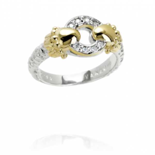 Diamond Two Tone Ring by Vahan