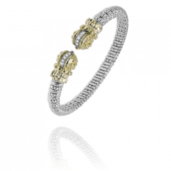 Sterling Silver &14kt Gold Bracelet by Vahan