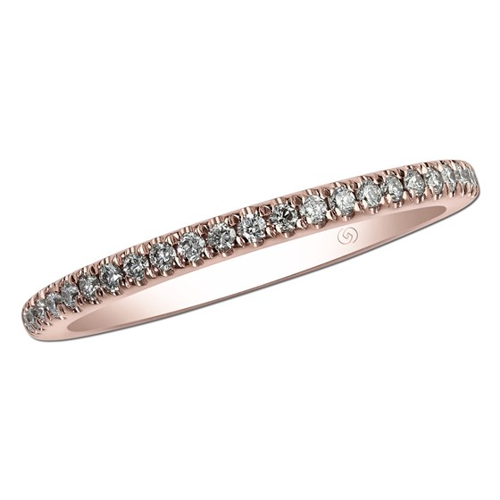 14 kt gold and diamond band by Gottlieb & Sons