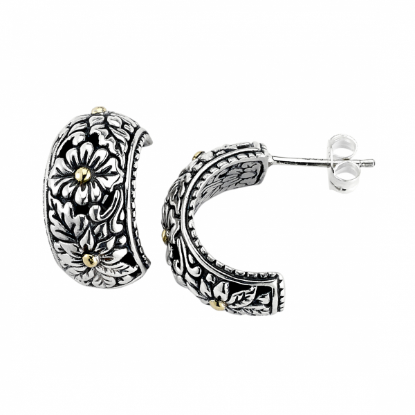 SB-Sterling silver/18 kt earrings by Samuel B.