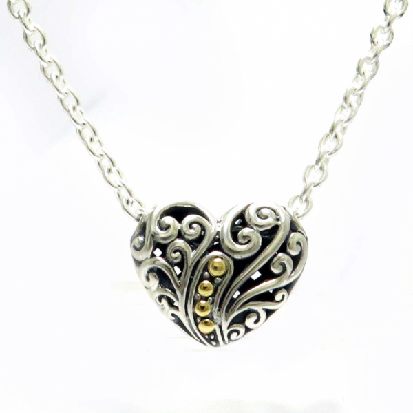 Sterling silver/18 KT  necklace  by Samuel B.