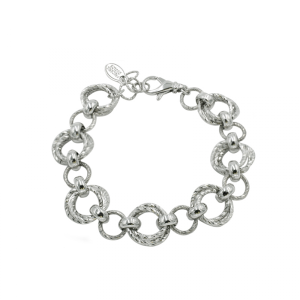 Sterling Silver  Link Bracelet by Frederic Duclos