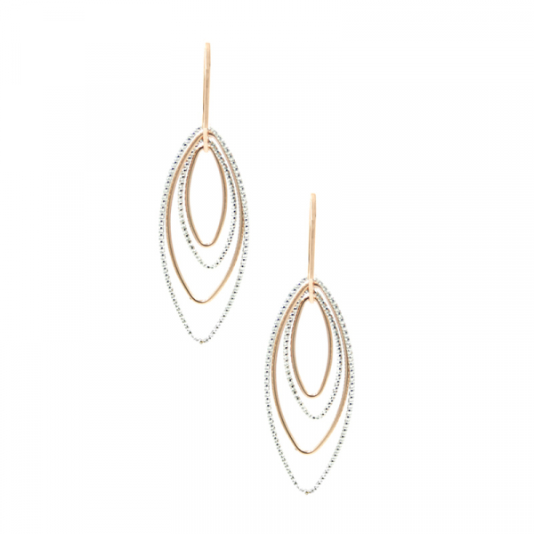 Sterling Silver & Rose Gold Plated Earrings by Frederic Duclos