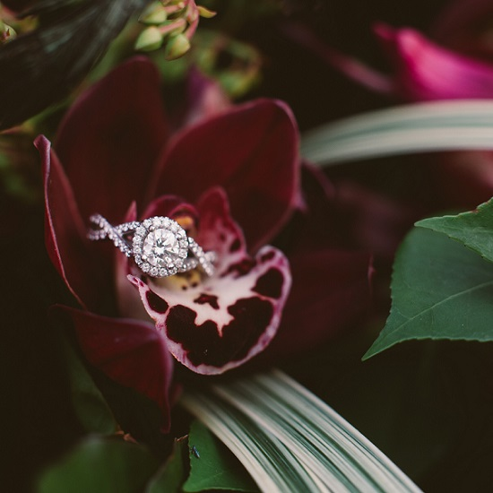diamond engagement rings petal
